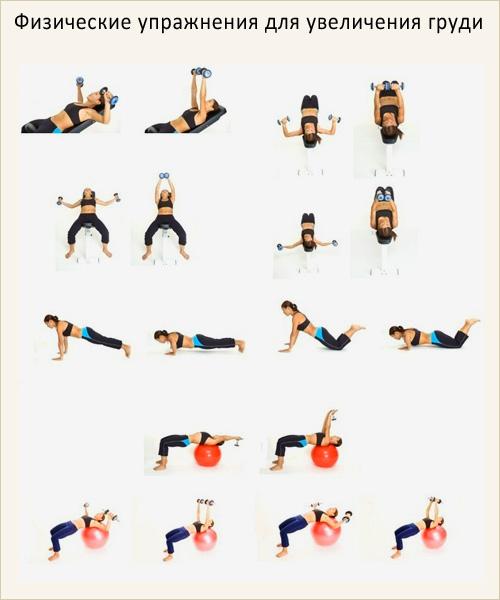 Упражнения на грудные мышцы в домашних условиях для женщин